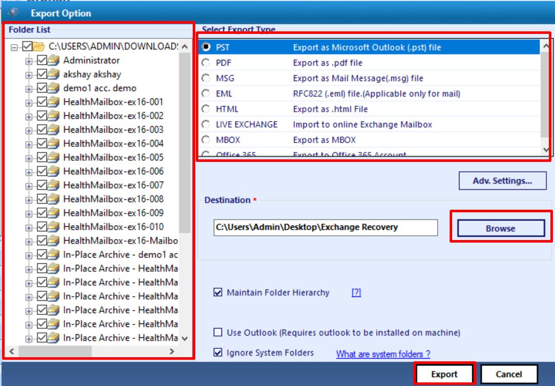 mailbox repair command exchange 2013