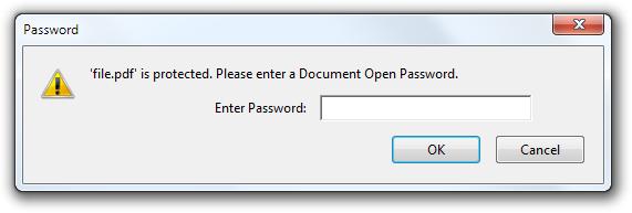 document open password