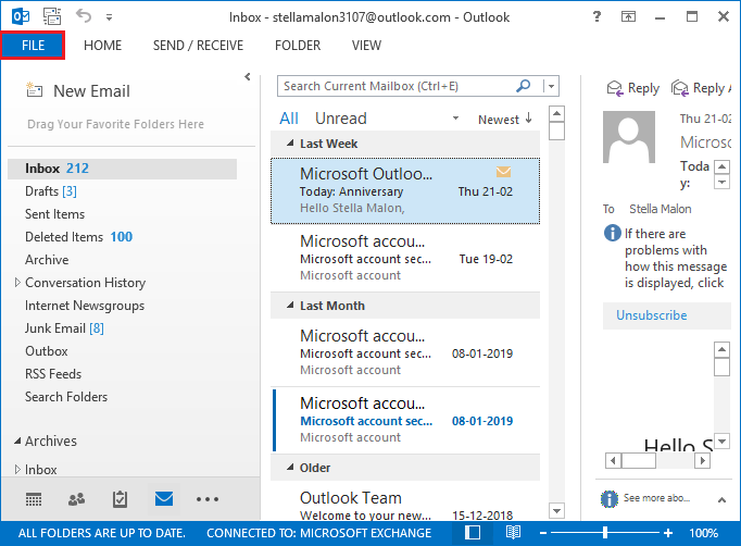 How to Import Backupify ZIP into Outlook 2019, 2016, 2013, 2010