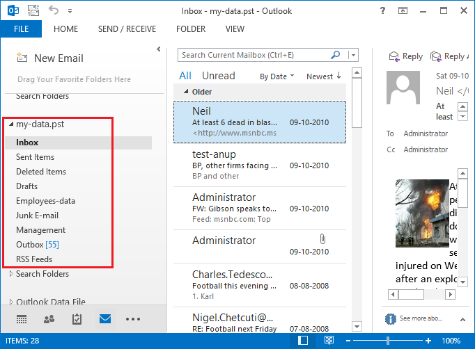import backupify zip to outlook