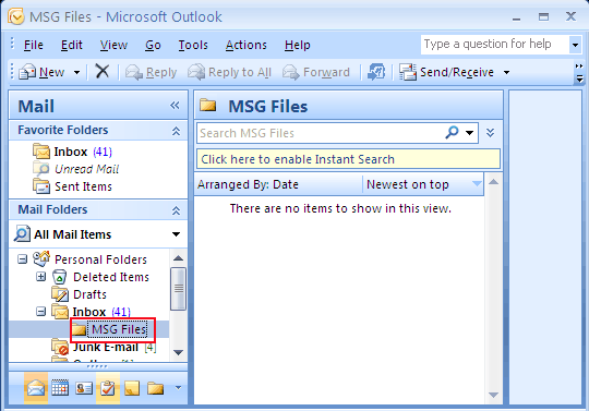 msg files as pst