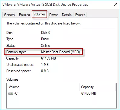 how to check if your partition is mbr or gpt