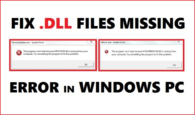 DLL files are missing