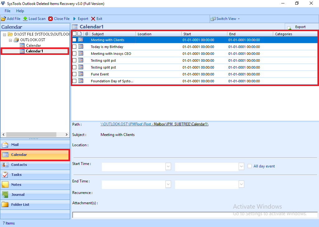 recover deleted recurring appointments in outlook