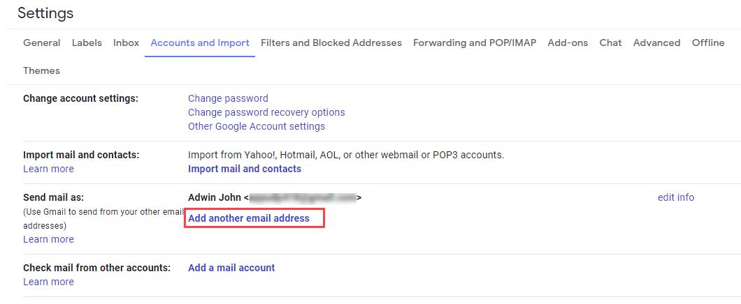 add zoho mail to gmail option