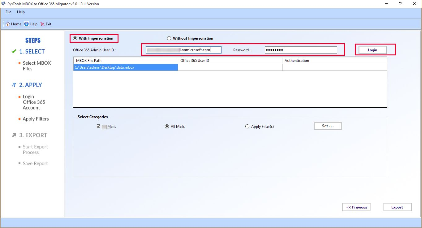import mail from gmail to office 365