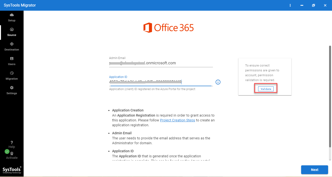 office 365 admin details