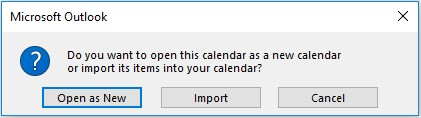open as a new calendar
