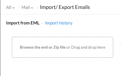 import yahoo emails to zoho mail
