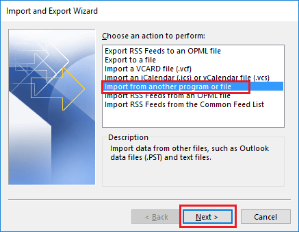 import and combine multiple pst files