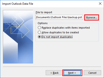 import combine outlook pst files