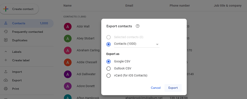 transfer contacts from Samsung to iPhone XS