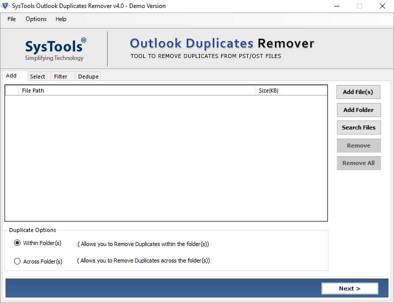 delete duplicate emails