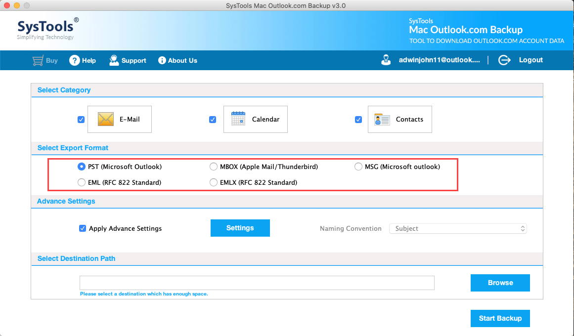 outlook web app to apple mail