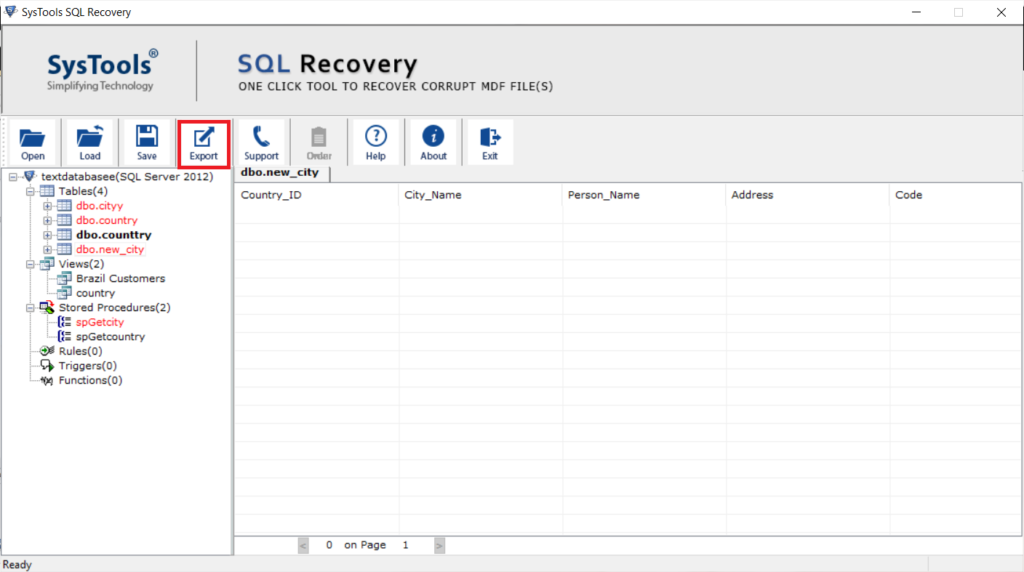 recover deleted database objects