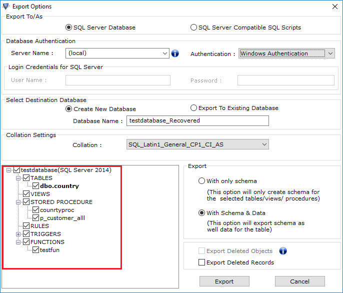 Select-desirable-database-components