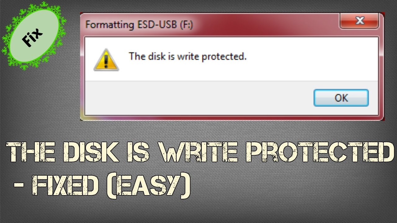 How to remove write protection from usb windows 10