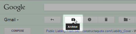 archive Gmail messages in bulk