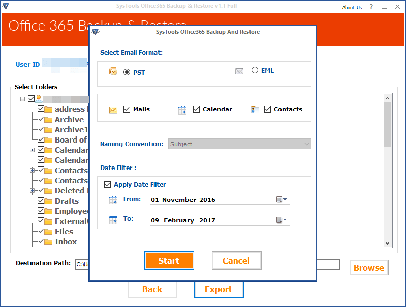 software to backup Office emails