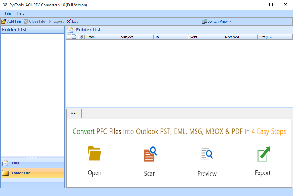 steps to export aol emails to eml