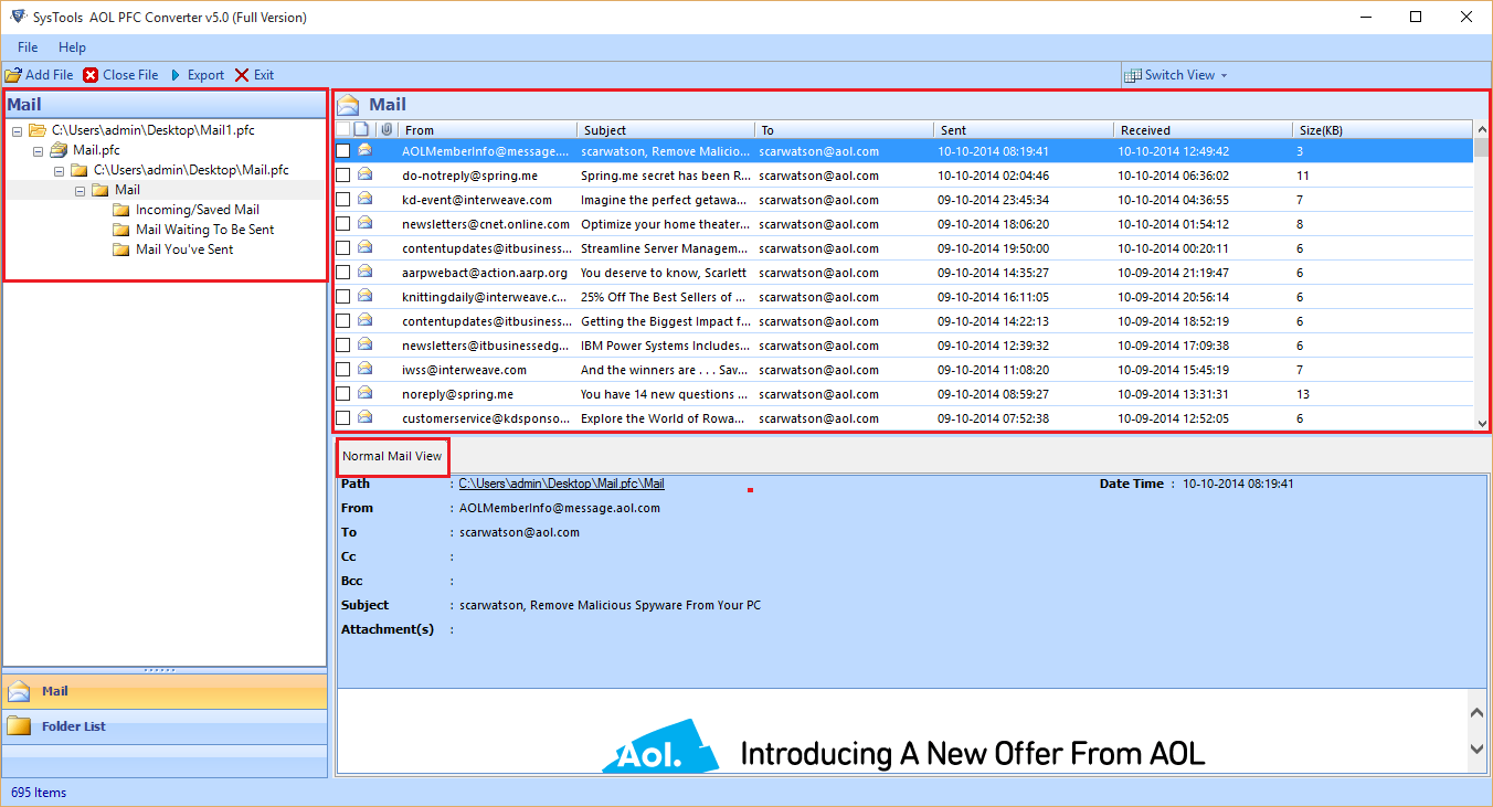 aol file viewer free download