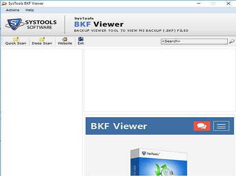 steps to view bkf file online