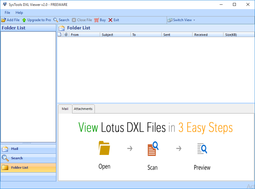 steps to view dxl file online