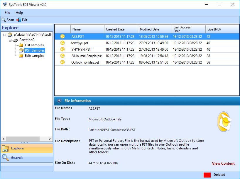 Open E01 File