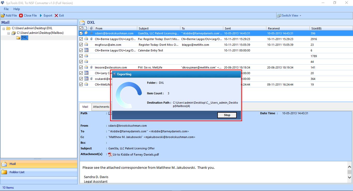 migrate DXL to NSF free