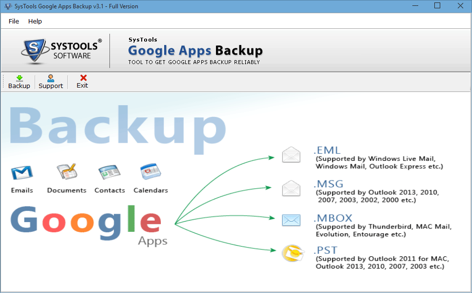 steps to backup google apps emails