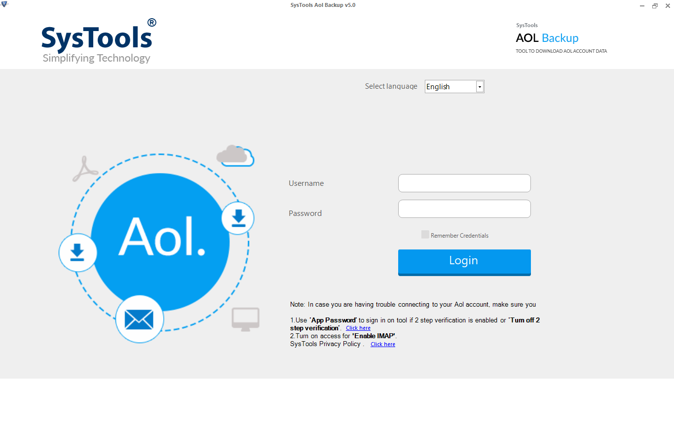steps to backup aol emails to computer