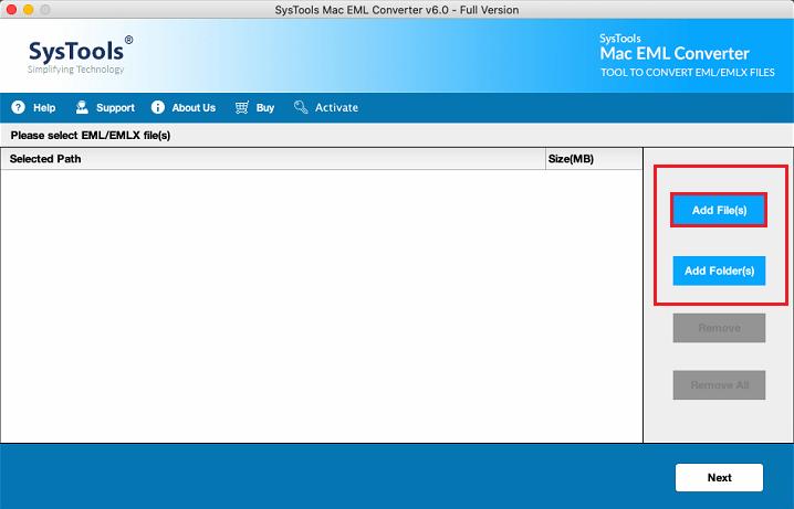 add eml files