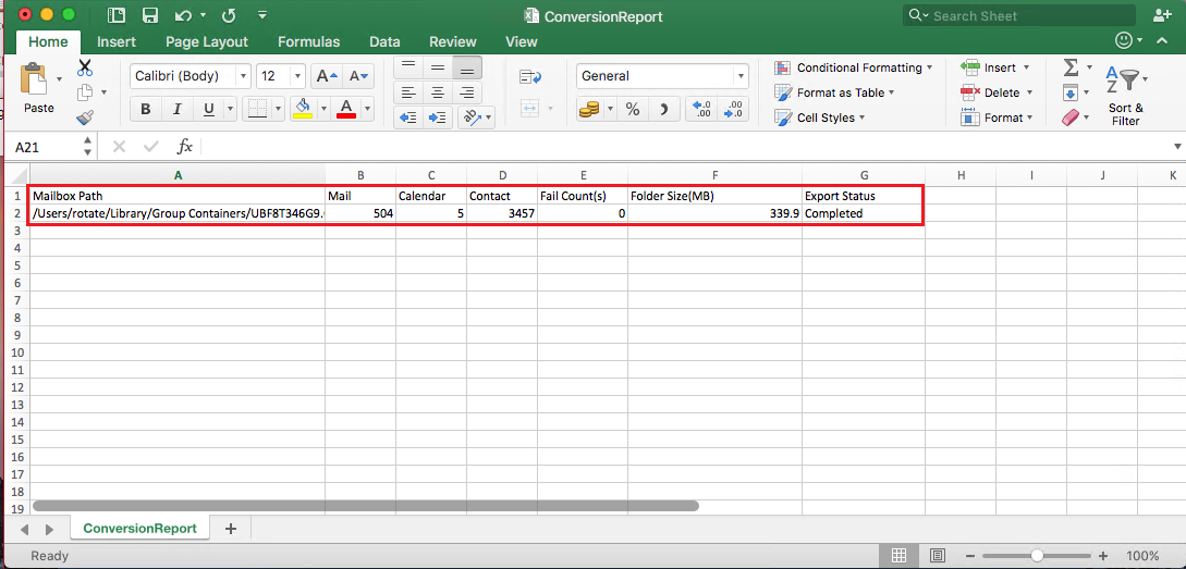 export csv option