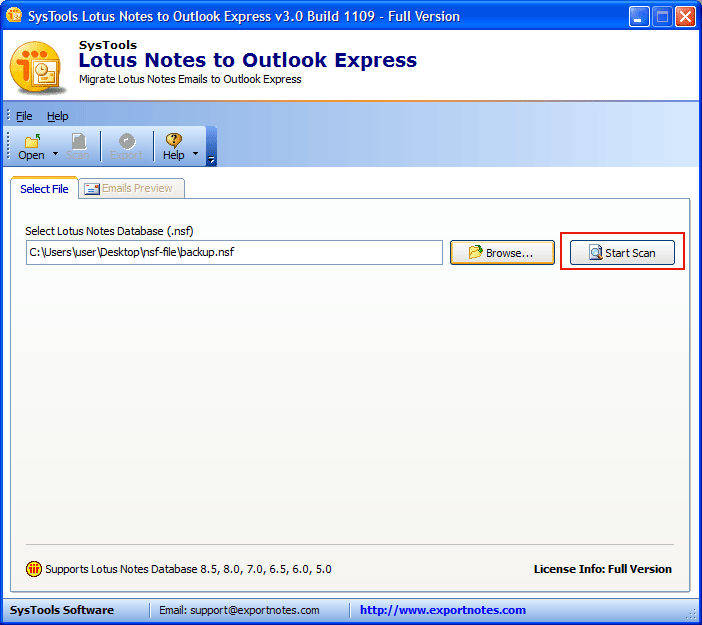 export emails to dbx