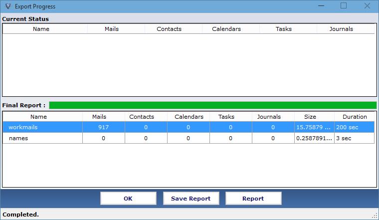 generate process report