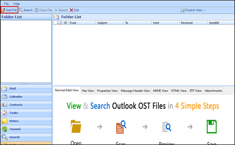 steps to view ost file free