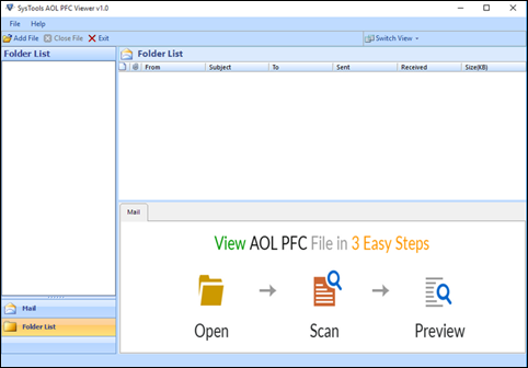 steps to open pfc file online