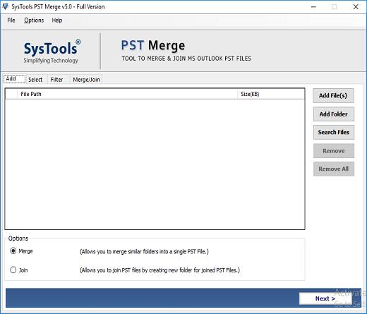 trouble free pst merge tool