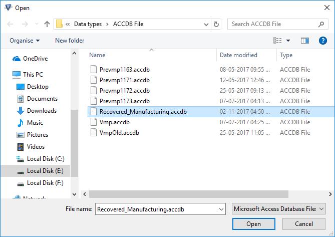 Open MDB File