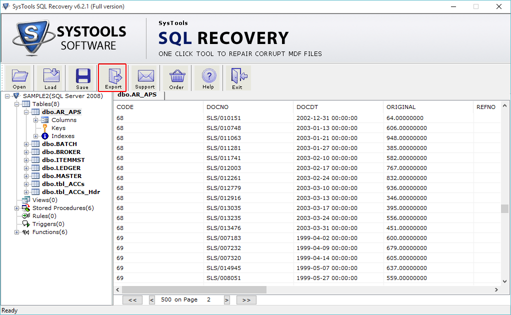 mdf file recovery