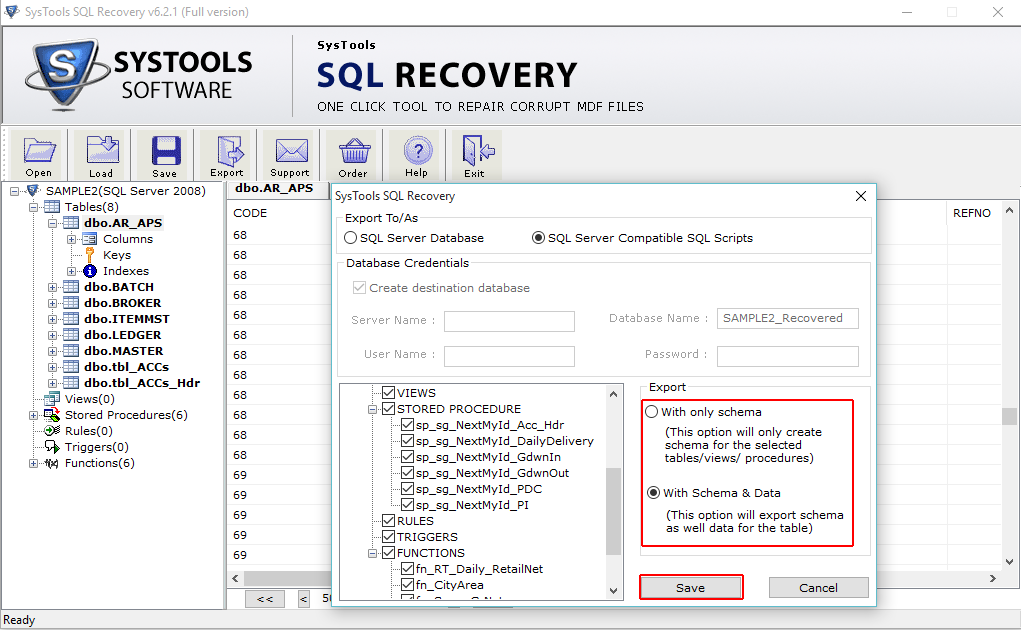 SQL Server Recovery Software to Repair SQL Database MDF