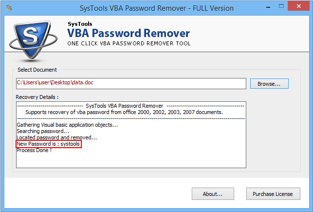 online recover lost vba password