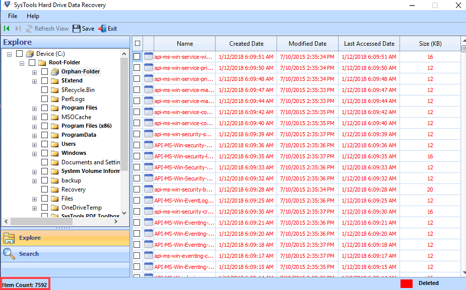 preview recovered PST