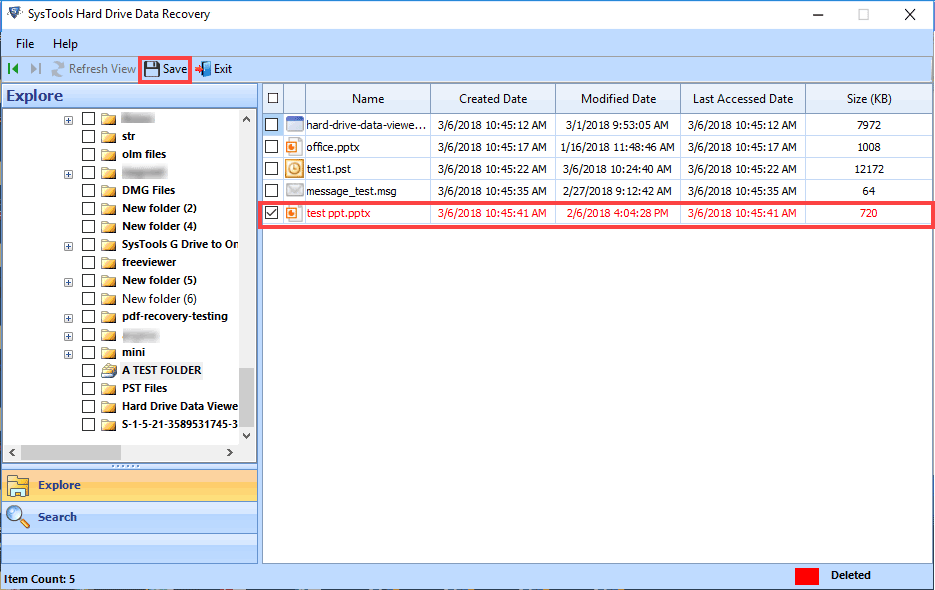 save recovered PST file