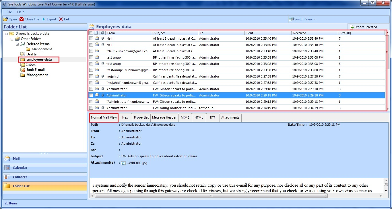 move contact list from windows live mail to outlook