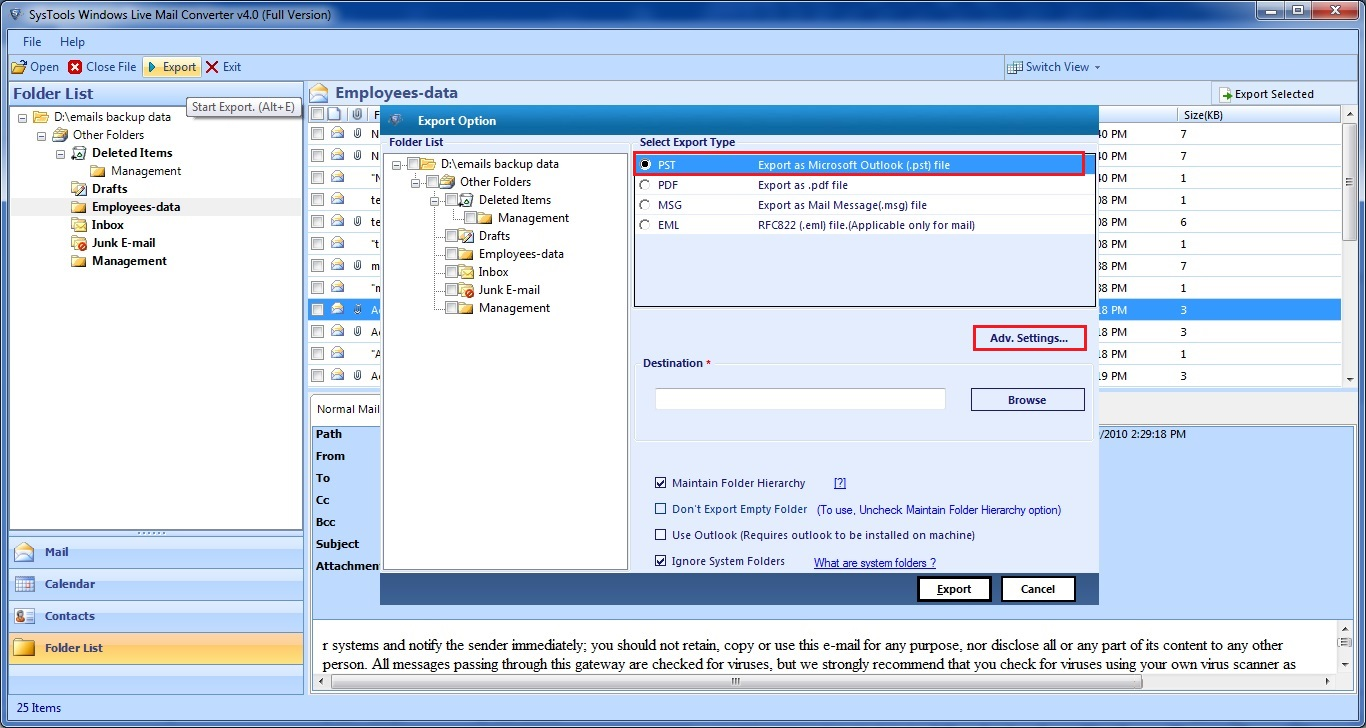 migrate wlm to pst